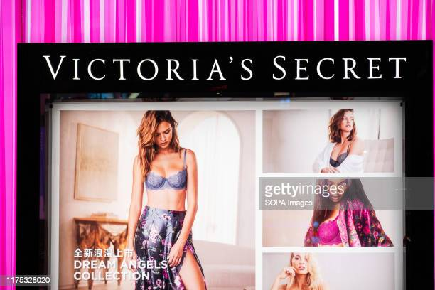 Store and logo of Victoria's Secret, an American designer, manufacturer, and marketer of women's lingerie, womenwear, and beauty products, seen in...