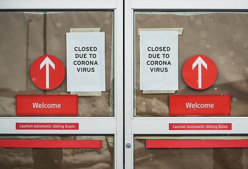Store Closed Due to Coronavirus 1213800484