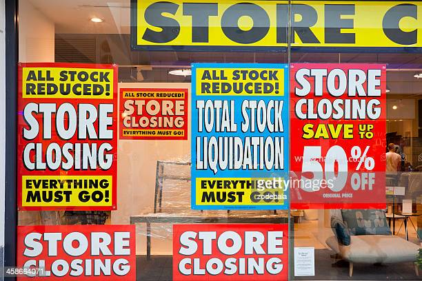 store closed, financial crisis - crisis stock photos and pictures