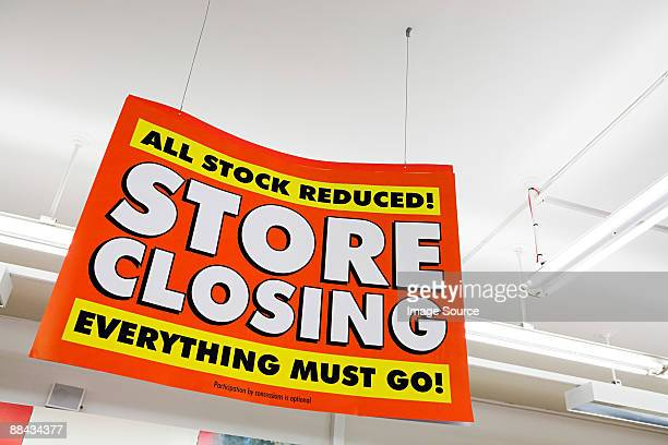 store closing sign - closing stock photos and pictures