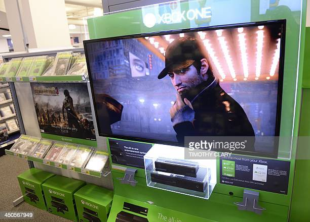 A store display of Microsoft's nextgeneration console the Xbox One at Best Buy in Union Square in New York November 19 2013 The Xbox One will be...