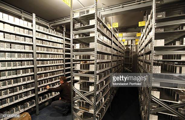 Store divided in alphabetical order with some equipment for the study of neutrinos within the National Institute for Nuclear Physics under Gran...