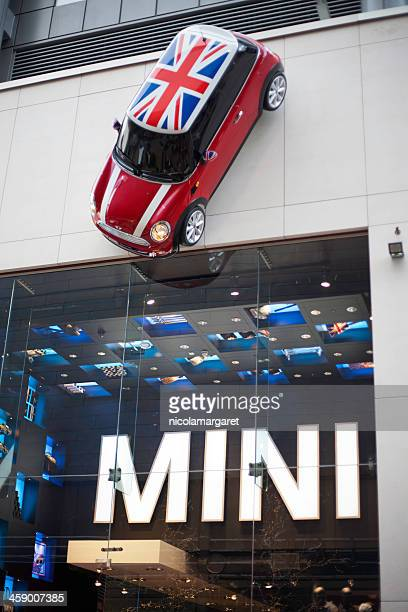 mini store in westfield shopping centre, stratford, london. - mini cooper stock pictures, royalty-free photos & images