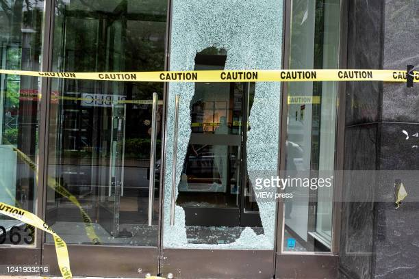 A store is seen after a night of looting due to protest on June 2 2020 in New York City Protests spread across the country in at least 30 cities...