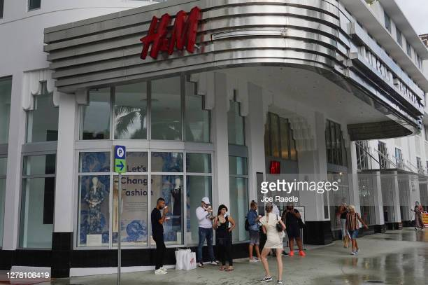 Store is seen on October 02, 2020 in Miami Beach, Florida. H&M announced plans to close approximately 250 stores next year as the coronavirus...