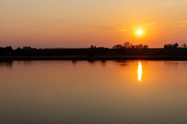 Store Kattinge Lake At Sunset