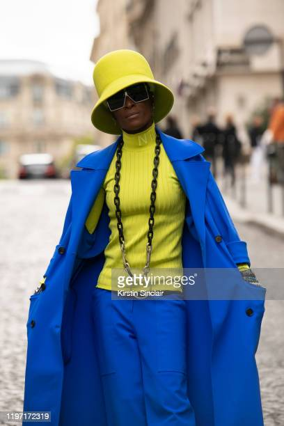Store Manager for Nina Ricci AnneLaure Moulika Varango wears all Nina Ricci on September 28 2019 in Paris France