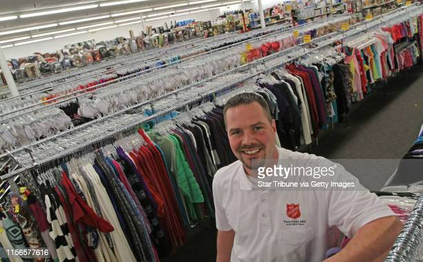 Store Manager Josh Hagberg and his staff are getting ready for the grand opening of the new Salvation Army store in Fridley that will have new items...