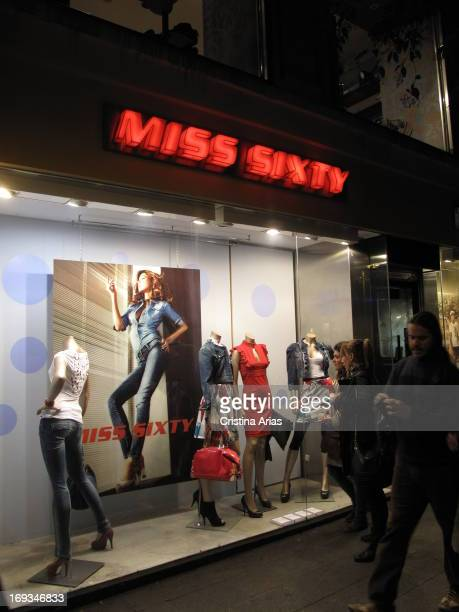 Store of the Italian fashion brand Miss Sixty in Fuencarral Street of Madrid Spain