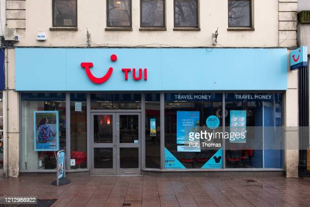 TUI store on March 17 2020 in Cardiff United Kingdom The UK Foreign Office has advised all Britons to avoid nonessential foreign travel for an...