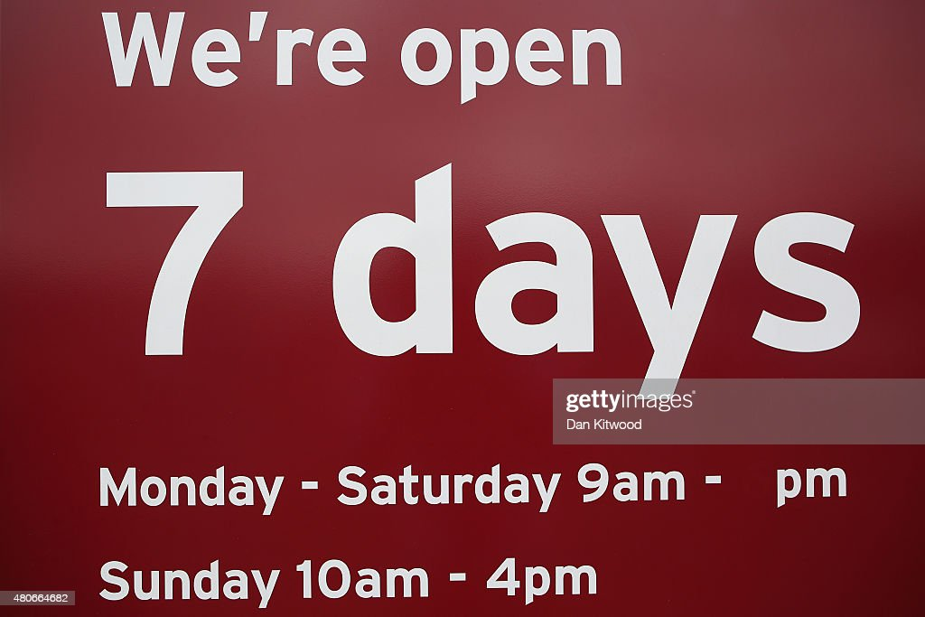 Chancellor Proposes Longer Sunday Trading Hours : News Photo