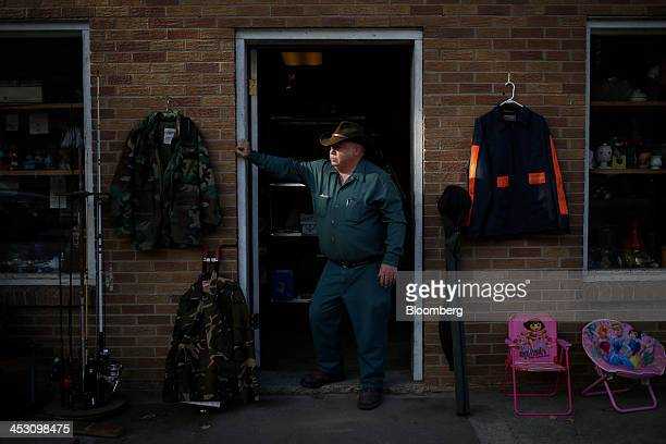 Store owner James Middleton stands for a portrait in front of his Harlan County thrift store along Route 38 in Evarts Kentucky US on Wednesday Nov 6...