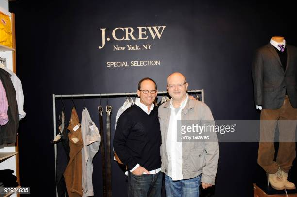 Store Owner Ron Herman and Mickey Drexler of J Crew attend the unveiling of the J Crew Special Selections Store at Ron Herman Melrose on November 9...