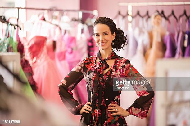 Store Owner Standing With Hand On Hip