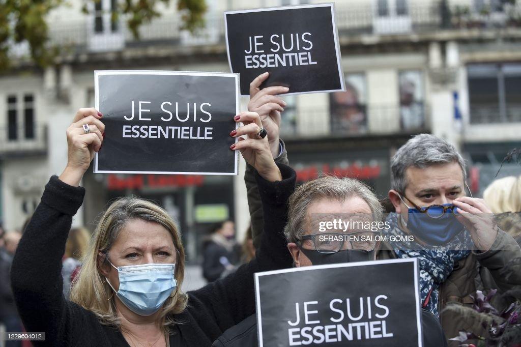 FRANCE-HEALTH-VIRUS-ECONOMY-DEMO : News Photo