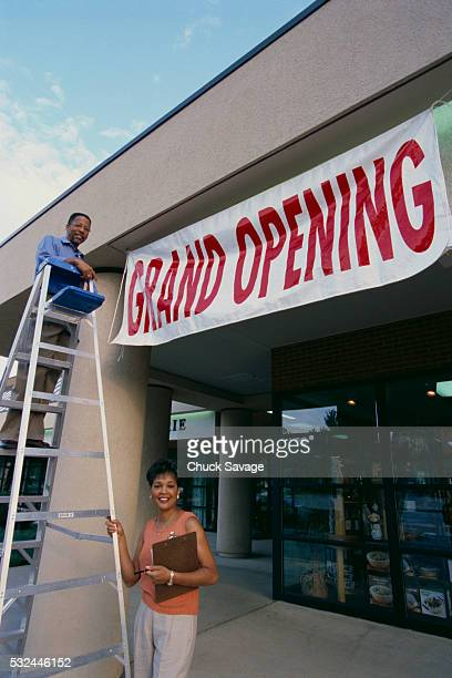 Store Owners Preparing for Grand Opening