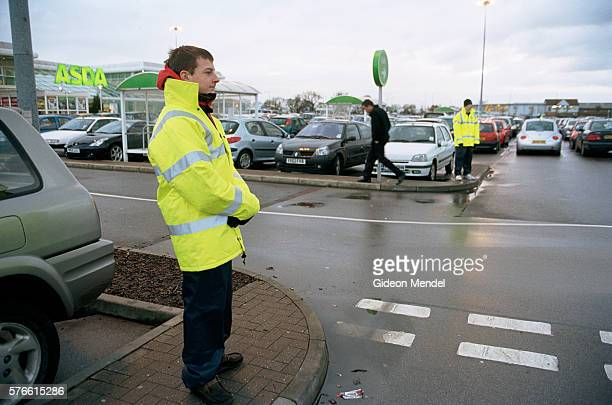 ASDA Store Parking Lot Attendants on duty