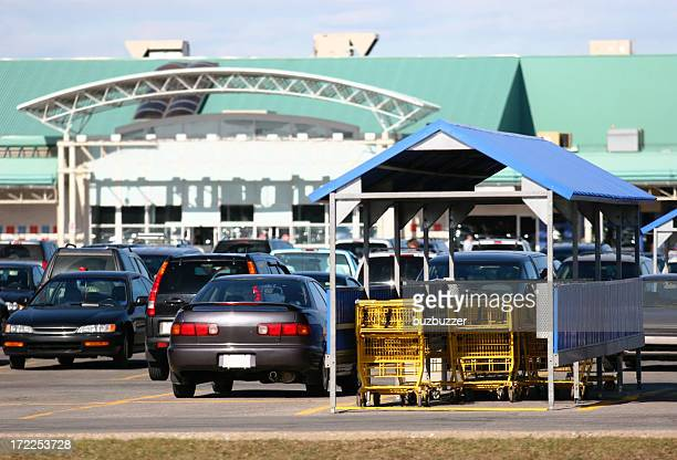 store shopping carts - megastore stock photos and pictures