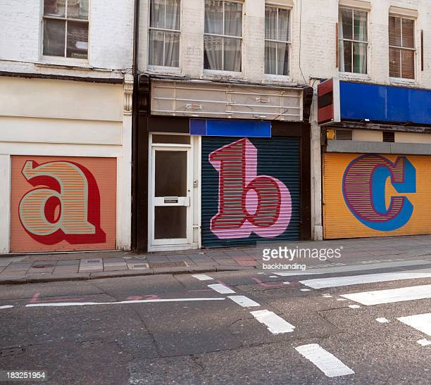 Store shutters letters
