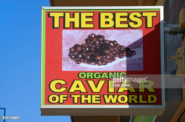 Store Sign for Organic Caviar