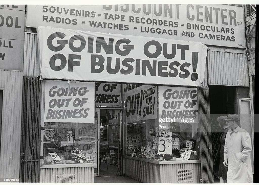 Store Windows With Out Of Business Signs Pictures | Getty Images