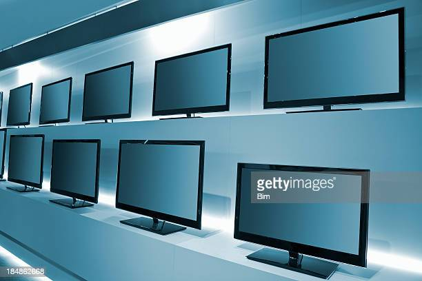 TV Store with rows of LDC TVs