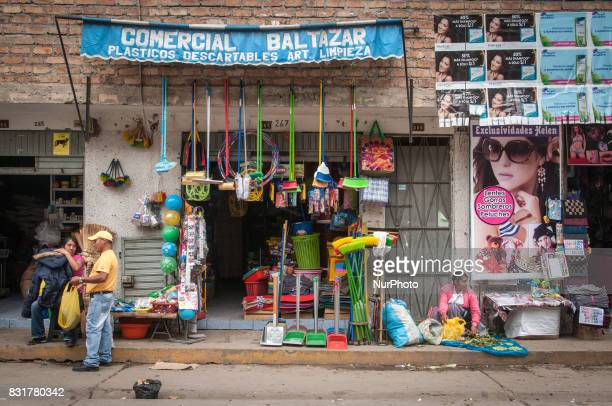 Storefront in Cajamarca Peru Photo taken 17 March 2017 Cajamarca Peru is home to the Yanacocha gold and copper mine one of the largest open pit mines...