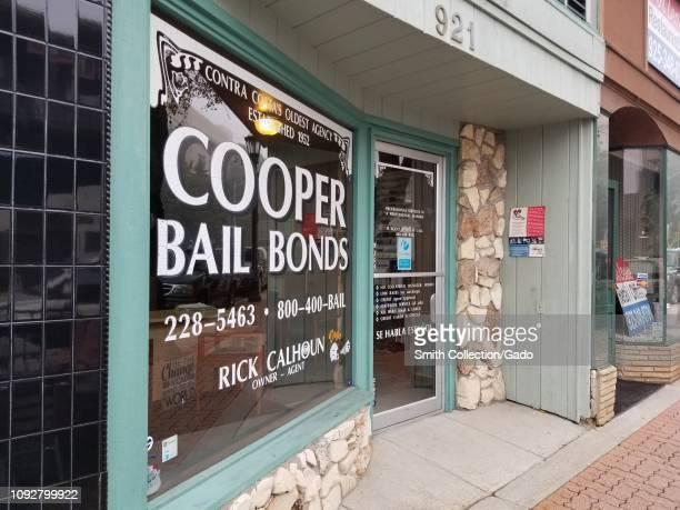 Storefront of Cooper Bail Bonds, originally established in 1952, near Contra Costa superior court in Martinez, California, January 10, 2019.