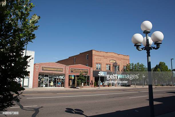 Storefront shops in old Englewood Colorado