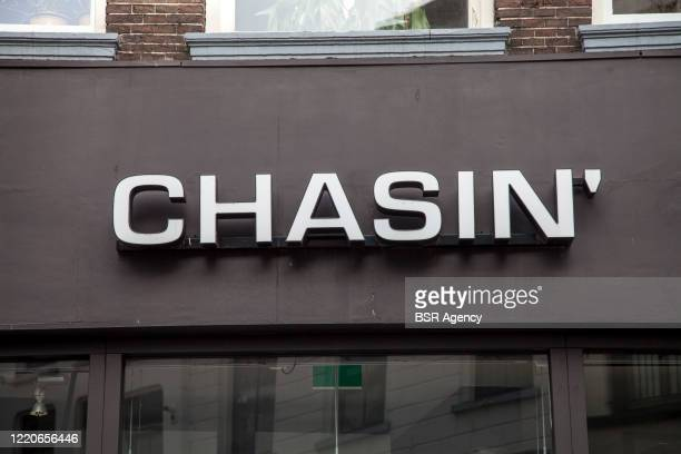 Storefront with logo of clothing brand Chasin' 2019 on April 3 2020 in Zutphen Netherlands