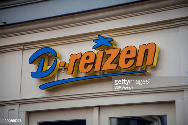 Storefront with logo of travel agency D-Reizen on April 3, 2020 in Zutphen, Netherlands.