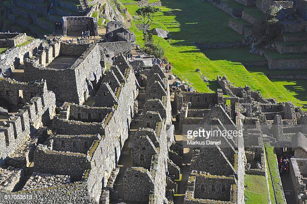 "storehouses, sacred plaza, main plaza machu picchu - ""markus daniel"" stock pictures, royalty-free photos & images"