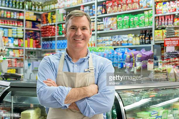 Storekeeper at a local food shop