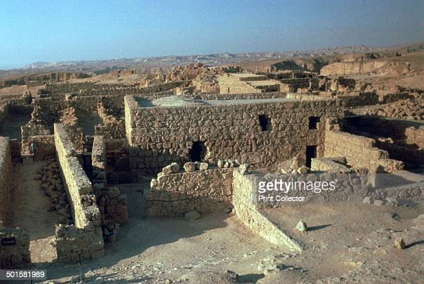 Storerooms in the Jewish fort of Masada scene of a siege and masssuicide during the first Jewish revolt against the Romans 1st century