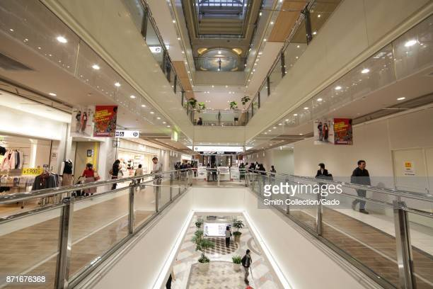 Stores and shoppers are visible in Ikebukuro Sunshine City a shopping complex in the Ikebukuro ward Toshima Tokyo Japan October 16 2017