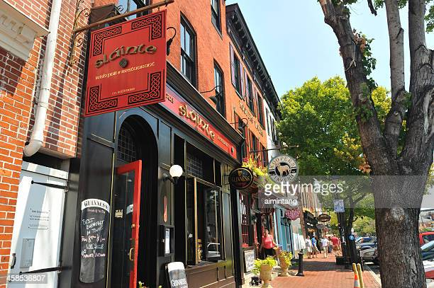 stores at fells point - baltimore maryland stock pictures, royalty-free photos & images