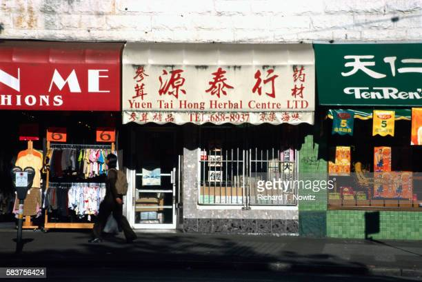 Stores on Main Street in Vancouver's Chinatown