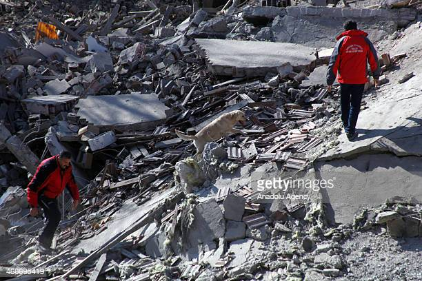 A 5 storey building in Altindag district of the capital city Ankara of Turkey is collapsed on a shanty house in which two disabled residents were...