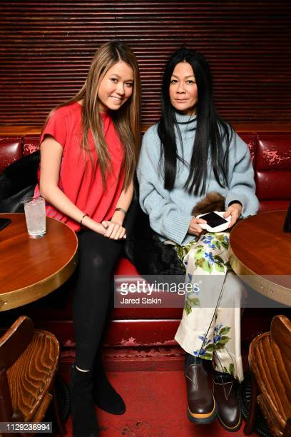 Storey Schifter and Helen Lee Schifter attend Nicole Miller FA19 After Party at Slowly Shirley on February 7 2019 in New York City