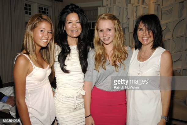 Storey Schifter, Helen Lee Schifter, Anna McEnroe and Patty Smyth attend Lee Daniels Film PRECIOUS after Screening Dinner Hosted by Marcia and...