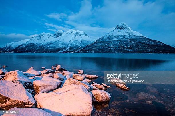 Storfjorden Lyngen Alps Norway