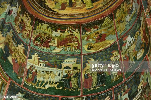 Stories from the life of Jesus frescoes in the Church of the Holy Spirit Dragomirna Monastery Mitocu Dragomirnei Bukovina Moldova Romania 17th century