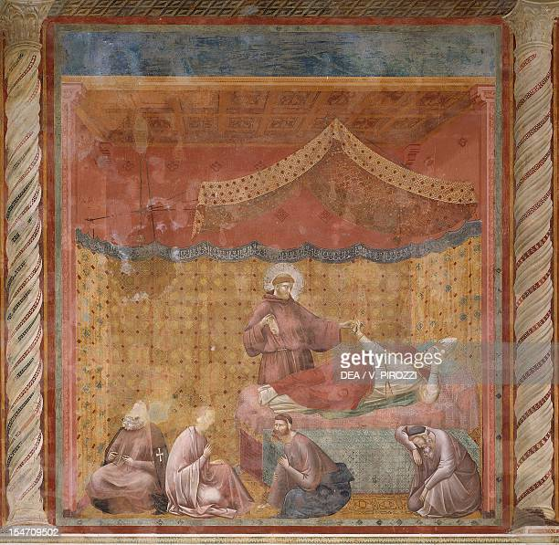 Stories of St Francis apparition to Gregory IX fresco by the Master of Saint Cecilia Upper Church Papal Basilica of St Francis of Assisi Assisi...