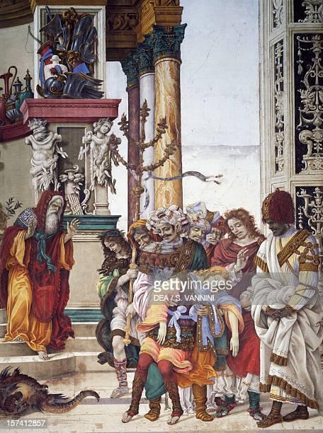 Stories of St John 1502 fresco by Filippino Lippi detail Strozzi Chapel Church of Santa Maria Novella Florence Italy 16th century