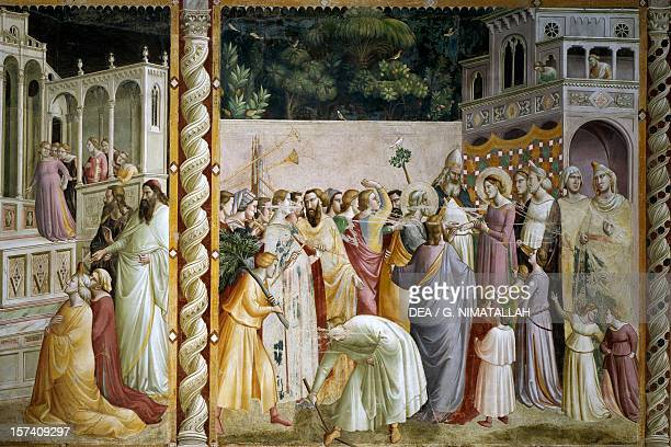 Stories of the Virgin Marriage of the Virgin fresco by Taddeo Gaddi 13321338 Baroncelli Chapel Basilica of Santa Croce Florence Italy 14th century