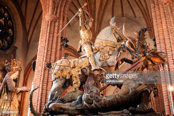 storkyrkan famous sculpture - st. nicholas cathedral stock pictures, royalty-free photos & images