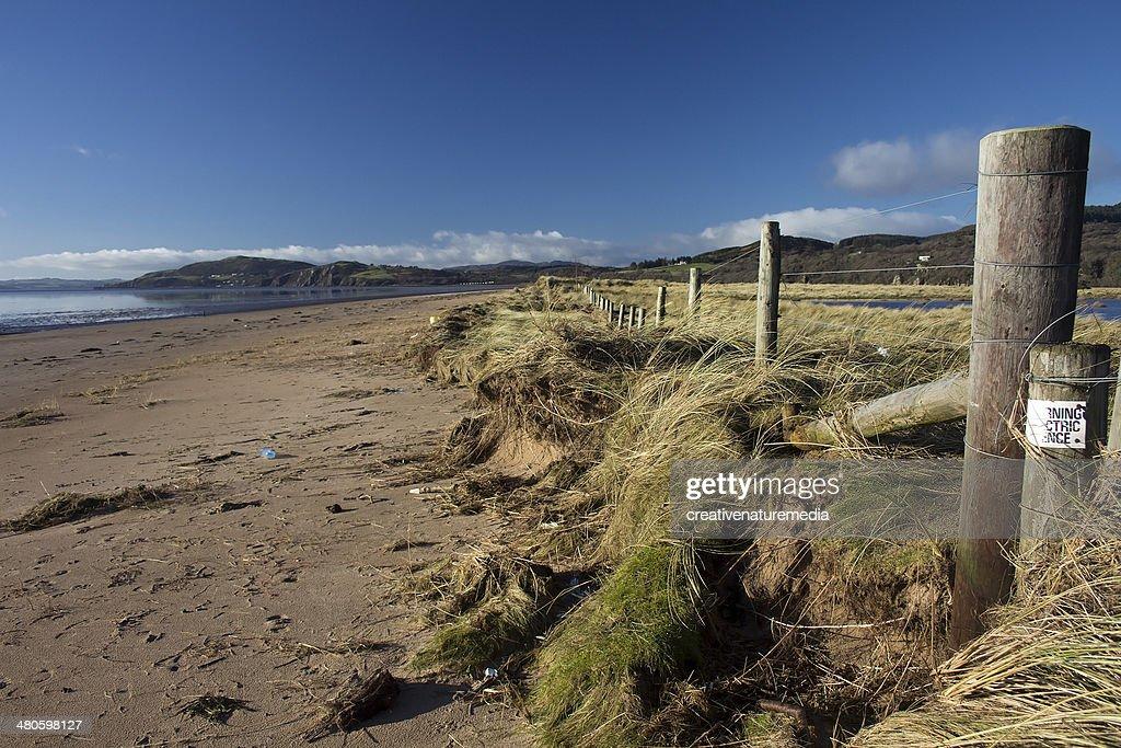 Storm Aftermath - Damaged Dunes : Stock Photo