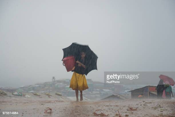 Storm and heavy rain in the makeshift shelters in Bangladesh becomes serious issue this week The Rhingya refugees are being killed by the landslide...