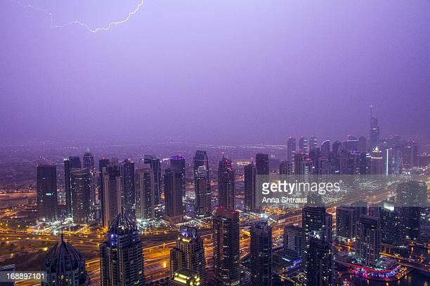 CONTENT] Storm and lightning over Dubai Marina Jumeirah Lakes Towers April 2013