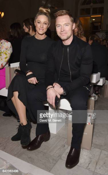 Storm and Ronan Keating attend the Paul Costelloe presentation during the London Fashion Week February 2017 collections on February 17 2017 in London...